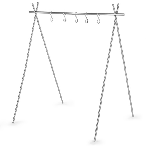Portable Collapsible Stainless Steel Camping Hanging Rack