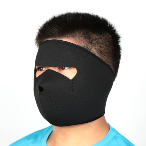 Bicycle Cycling Motorcycle Winter Sports Breathable Windproof Dustproof Face Mask Neoprene Half Face Mask Black
