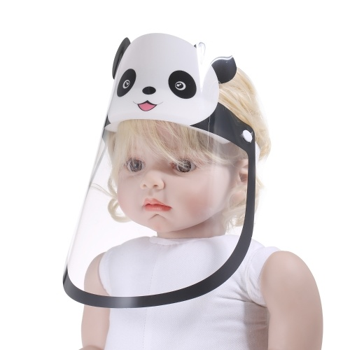 Full Face Covered Reusable Droplets-proof Fog-proof Clear Protective Visor Adjustable Dust-Proof Protect Shield Safety Covering for Kids Children