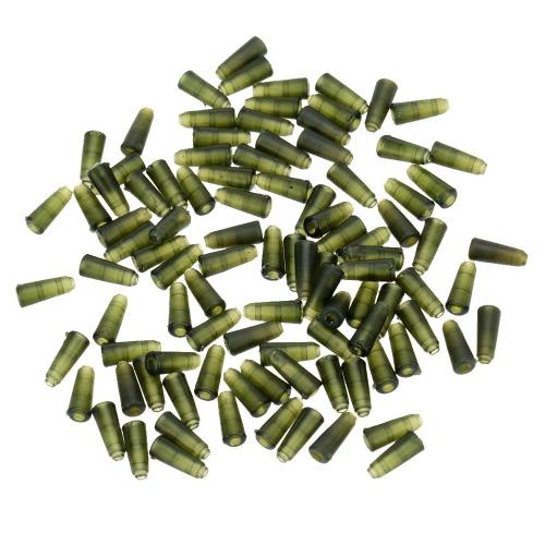 100 piezas 10mm cola goma cono tubo perlas para pesca de la carpa llevan Clips