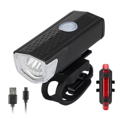 USB аккумуляторный задний фонарь для велосипеда и передний фонарь для велосипеда, набор 3 режима освещения, 300 лм, водонепроницаемый светодиодный велосипедный фонарь для горного и шоссейного велосипеда