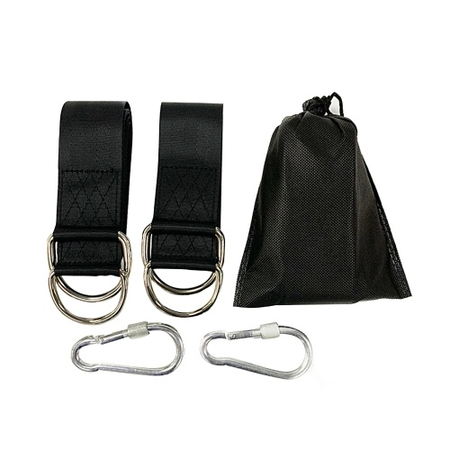 Комплект для подвешивания ремней для качелей на открытом воздухе с сумкой для хранения тяжелых карабинов Грузоподъемность 661 фунт