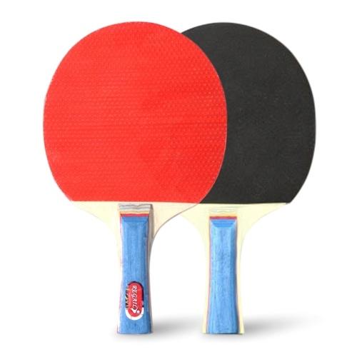Raquetes de ping pong de qualidade Raquetes de tênis de mesa 2 bastões de ping pong Punho longo Conjunto de raquete de ping pong Acessórios de treinamento Kit de raquete