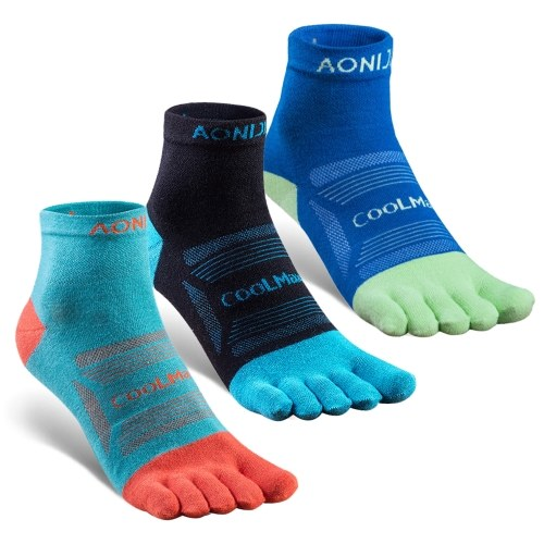 3 Pairs Sports Toe Socks Athletic Five Toe Socks