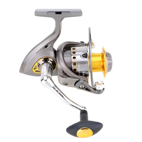 Спиннинг Гладкая Прядильная Рыболовная Катушка 1000-5500 Серии Серая Рыболовная Катушка 6+1BB