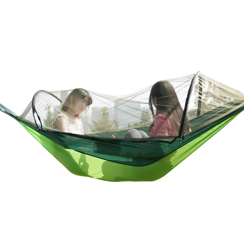 Portable Camping Hammock Outdoor Parachute Hammock Hammock Swing Bed with Mosquito Net for Outdoor Camping