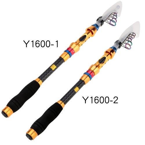 2.7m/2.4m Telescopic Fishing Rod Carbon Fishing Rod Adjustable Length Fishing Rod