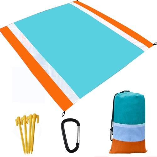 Ultraleichte wasserfeste Campingmatte mit Aufbewahrungstasche Sandfreie Strandmatte Picknickdecke Sanddichte Stranddecke