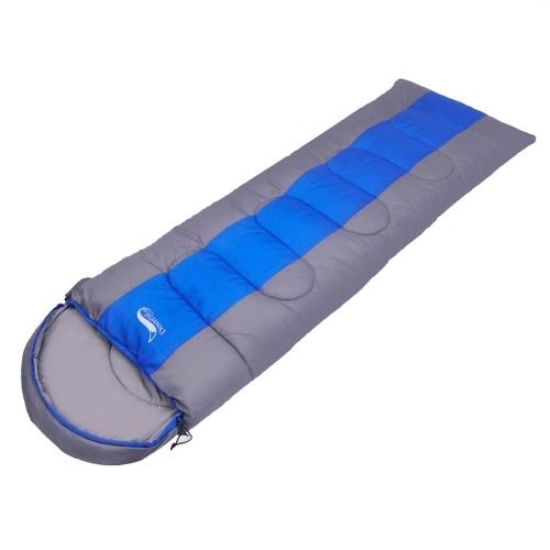 Saco de dormir de acampamento leve envelope quente de 4 estações Saco de dormir de mochila para caminhadas ao ar livre