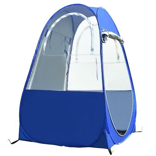 Tragbares Outdoor-Angelzelt UV-Schutzzelt Pop-up Einzelzelt Automatisches Sofortzelt Regenschattenzelt Fenster und Türen auf beiden Seiten für Outdoor-Camping Wanderstrand mit Tragetasche