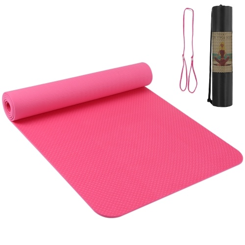 72.05×24.01in Portable Yoga Mat Thicken Sports Mat Anti-slip Exercise Mat for Fitness Workouts with Carrying Strap and Storage Bag
