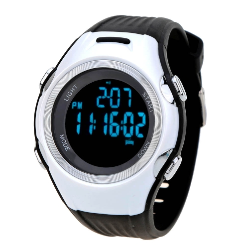 3ATM Water-resistant Outdoor Sports Cycling Heart Rate Monitor Watch Pulse Watch Pedometer with Chest Strap
