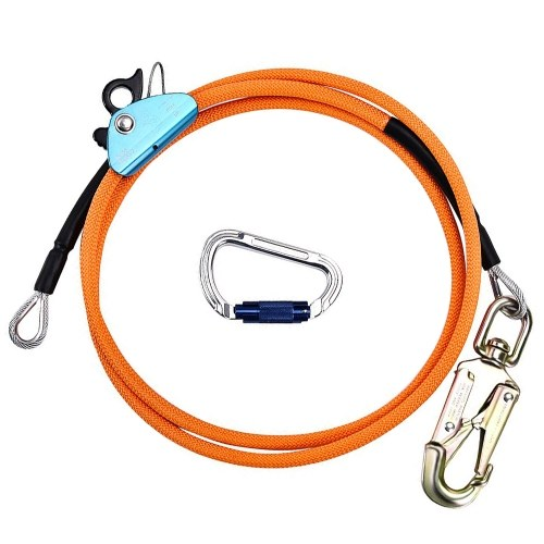 2.4/3/3.6 Meters Outdoor Climbing Rope Tear-Resistant Safety Rope Portable Climbing Lanyard for Full Protection