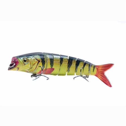 5.5in / 0.76oz  Bionic Multi Jointed Hard Bait S Swimming Action Fishing Lure 8 Segment Sinking Fishing Lure VIB Bait Crankbait 3D Eyes Lifelike Artificial Fishing Lures Hook with Treble Hooks Tackle