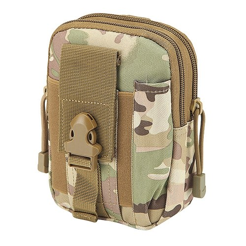 Outdoor Waist Bag Molle System Supported Lightweight Hard-Wearing Waterproof Multifunctional Pouch