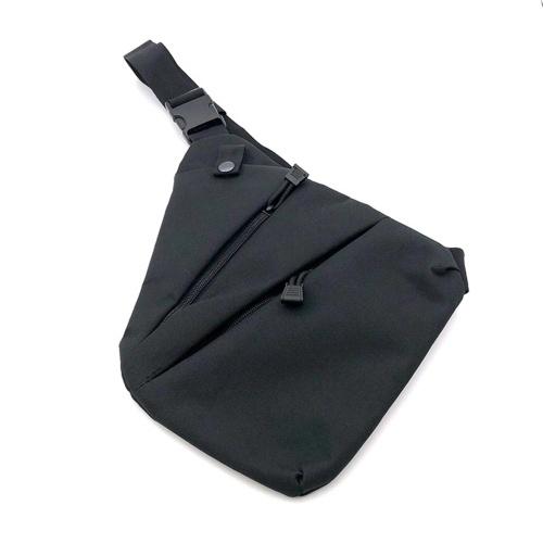 Men's Crossbody Bag Storage Bag Waterproof Left Right Shoulder Backpack Chest Bag Messenger Bag Cycling Hiking