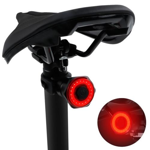 Smart Bike Rücklicht Rückbremslicht Wasserdichte USB wiederaufladbare Sicherheit Rücklicht Rückfahrrad Taschenlampe