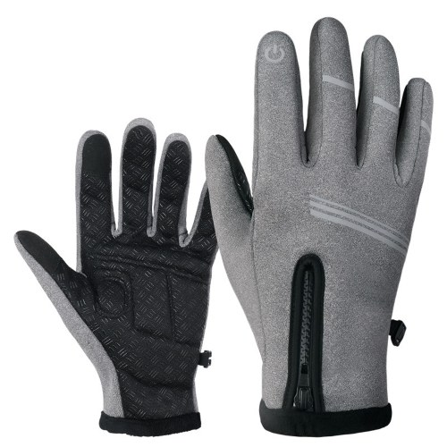 Cycling Gloves Outdoor Sport Winter Cycling Gloves Thermal Fleece Touchs Screen Outdoor Sport Skiing Climbing Image