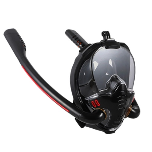 Snorkeling Mask Double Tube Silicone Full Dry Diving Mask Adults Swimming Mask Diving Goggles Self Contained Underwater Breathing Apparatus