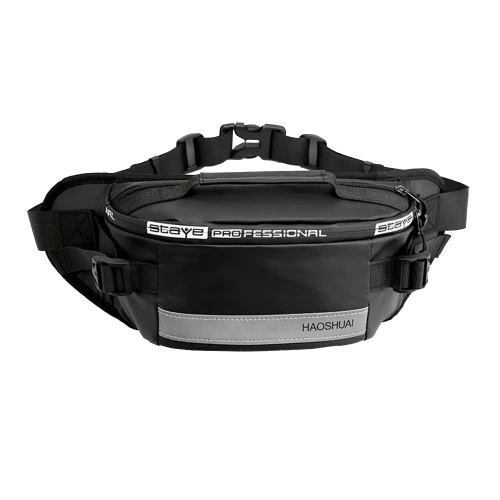 Fashion Waist Bag Large Capacity Reflective Stripe Waterproof Wearproof Pouch Bag Fanny Pack