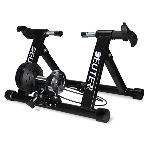 Foldable Magnetic Bike Trainer Stand Cycling Rack Indoor Bicycle Exercise Training Stand for 20-22 Inch / 26-29 Inch Bike Tires