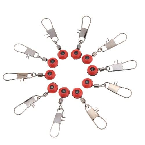 100pcs espacio frijoles conector balanceo giratorio aparejos flotador accesorios