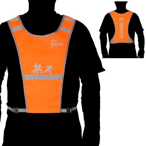 Warnschutzweste für Warnwesten mit hoher Sichtbarkeit und Tasche zum Laufen, Radfahren, Gehen, Motorradfahren