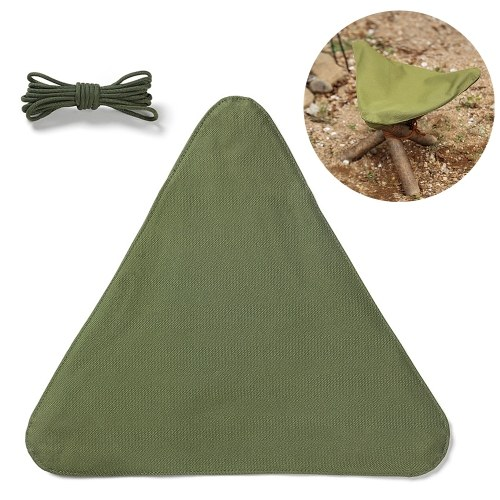 Outdoor Camping Triangle Stool Cloth Waterproof Nylon Stool Cloth for Outdoor