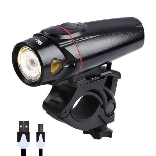 Lâmpada de indução para bicicleta WEST BIKING Lâmpada recarregável USB para bicicleta de estrada frontal / traseira lâmpada