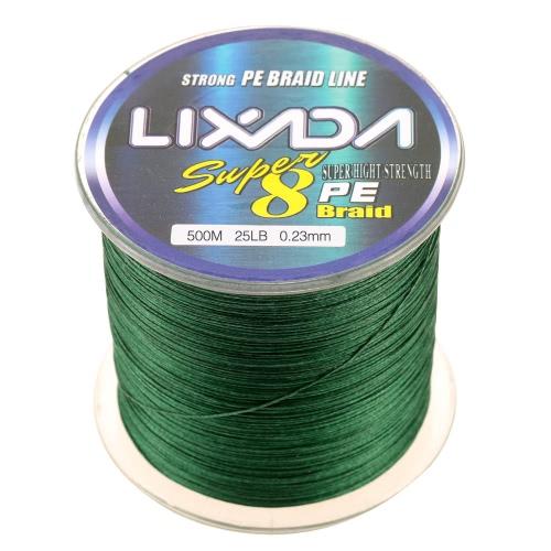 Lixada 500M Сверхпрочная Multifilament Полиэтилен плетеная леска 25lb до 60lb