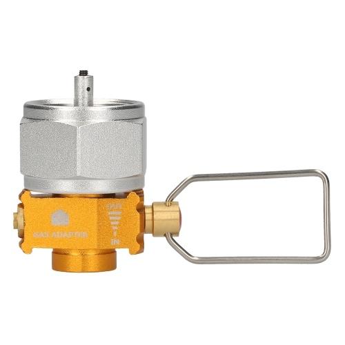 ガスセーバープラスガスコンバーターシフター詰め替えガスタンク変換アダプターキャンプハイキングフィッシング用ガスアダプターバルブ