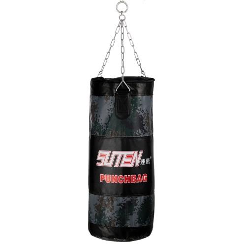 55-75cm camuflaje boxeo entrenamiento de combate gratis bolsa de arena colgante saco vacío tiro con cadena