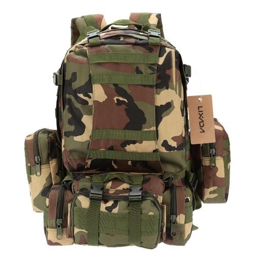 軟性 Webbings リュックと Lixada 屋外多機能軍事戦術バックパック スポーツ バッグをハイキング キャンプ旅行