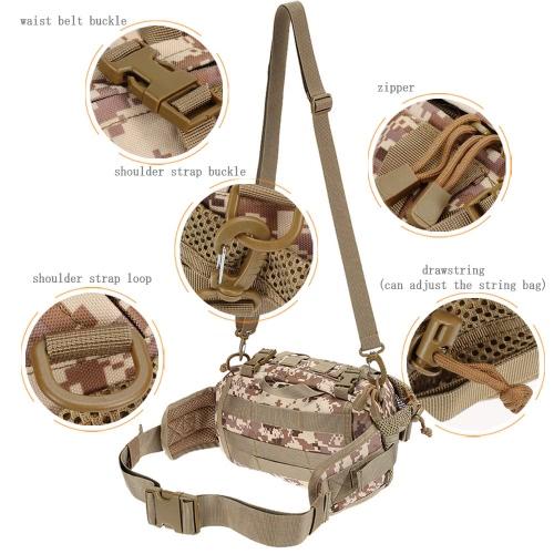 Lixada uomini Nylon portatile Versatile Tactical Pack marsupio tracolla per campeggio escursionismo all'aperto
