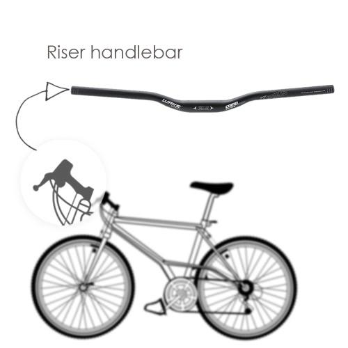 Алюминиевого сплава велосипедных горных MTB велосипед Riser руль 31,8 * 620 мм