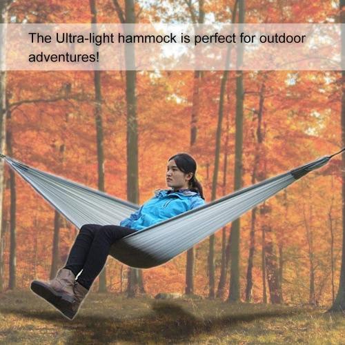 Lixada Ultra-light Hammock für Reisen Wandern Trekking Camping mit angebrachtem Stuff Sack für eine einzelne Person
