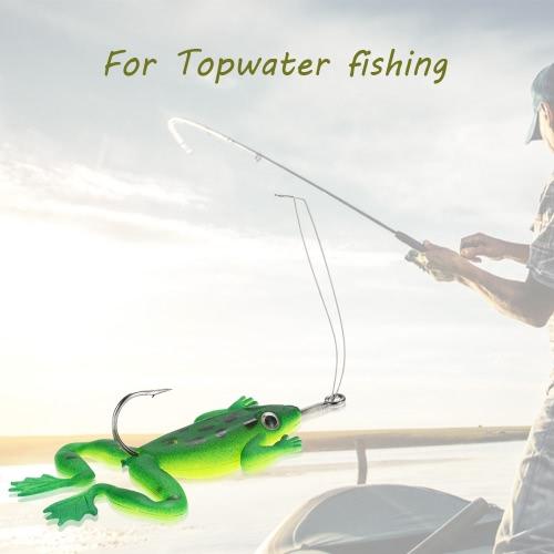 Lixada 4pcs señuelos de pesca artificial Topwa vida-como los cebos de los trastos de cebo suave cebo con un solo gancho