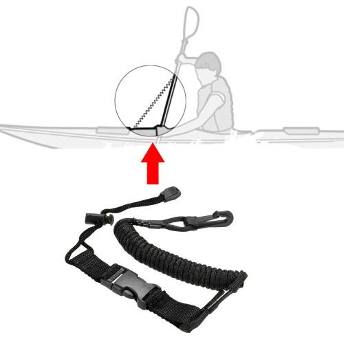 1pc aufgewickelt Paddel Leine Kajak Kanu Safety Rod Leine Angelrute Lanyard Strecken bis 150cm