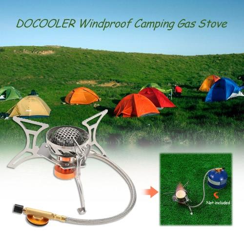 Docooler a prueba de viento plegable que acampa Cocina de gas quemador de la estufa de horno para la caza al aire libre que va de excursión con mochila