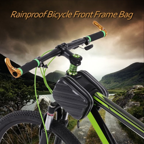 Lixada Rainproof Outdoor Cycling Hiking Riding Road Bikes MTB City Bike Bicycle Front Frame Bag Pack Double Pouch  Front Tube Bag Pouch
