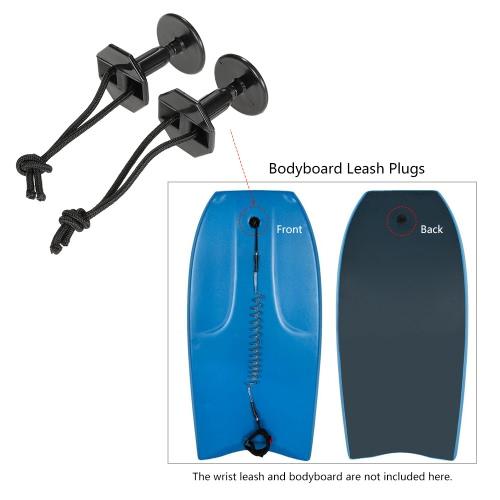 2 piezas de Bodyboard Bodyboard Tapones de Surf Junta Correas Correa tapones con Cable