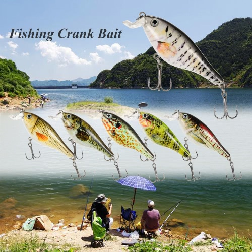 Lixada 8,3 centimetri / 11g artificiale Crankbait di richiamo di pesca esca dura con ancorette Esca per la pesca Fishing Tackle