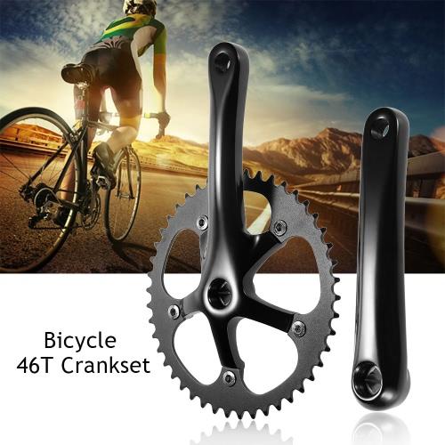 46T Guarnitura Fixed Gear per bicicletta in alluminio Chainwheel Crank pacco pignoni Guarnitura