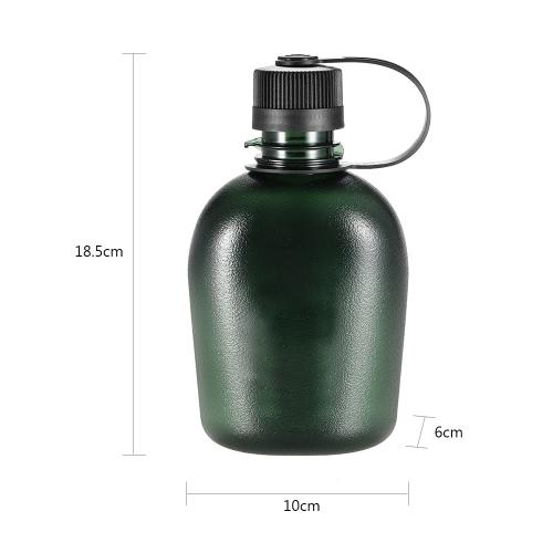 500ml / 750ml táctico Botella de agua con la manija envase de bebidas militar ligero portátil para el ocio al aire libre