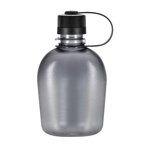 500ml / 750ml / 1000ml tattica bottiglia d'acqua con maniglia Bere contenitore militare portatile leggero per il tempo libero all'aperto
