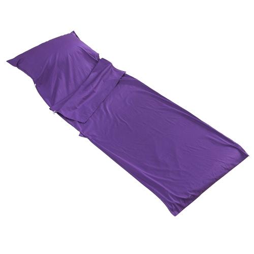 Viajar al aire libre Saco de dormir Liner ligera compacta tela de algodón del saco de dormir de mochilero