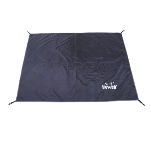 Hewolf Black Color Oxford Fabric Mat Waterproof Sleeping Pads for Camping Hiking Backpacking Picnic Shelter Shade Canopy Outdoor Activities