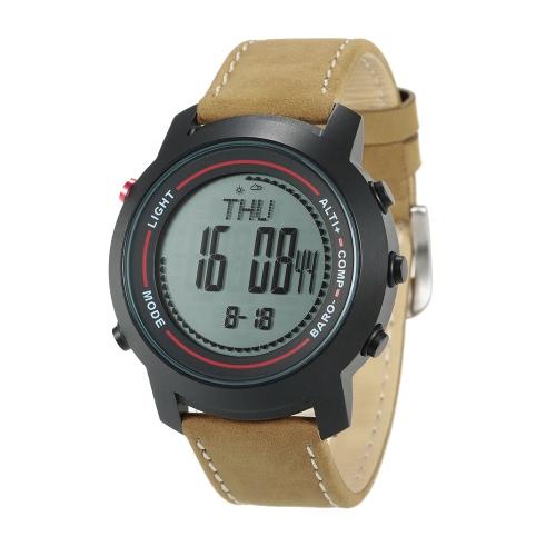 SPOVAN 5ATM multifunzionale all'aperto orologio sportivo Arrampicata Escursioni polso Altimetro Barometro Termometro Bussola digitale