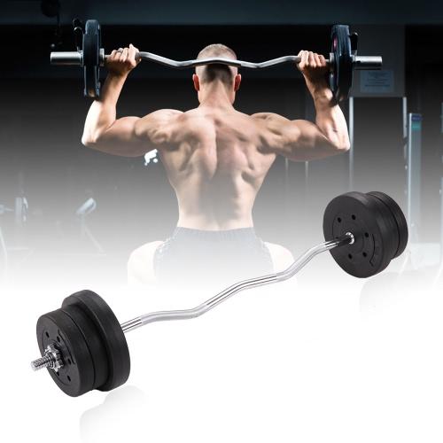 TOMSHOO Barra juego de pesos de 44lb Ajustable Peso de elevación Curl Barra de gimnasio en casa de cuerpo completo ejercicio del entrenamiento del gimnasio