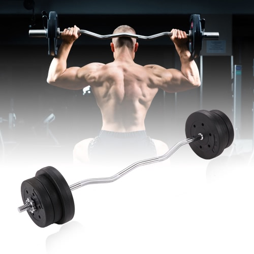 TOMSHOO Barbell Gewicht Set 44LB Adjustable Weight Lifting Curlstange für Home Gym Ganzkörpertraining Fitnessübung